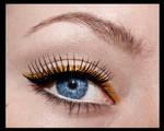 Black and gold retro style eyeliner