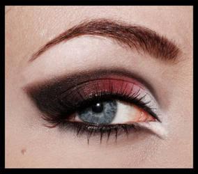 Red and black gothmakeup by aurelia87