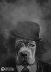 Sad Dog by ipawluk