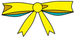 Yellow Ribbon with some cyan