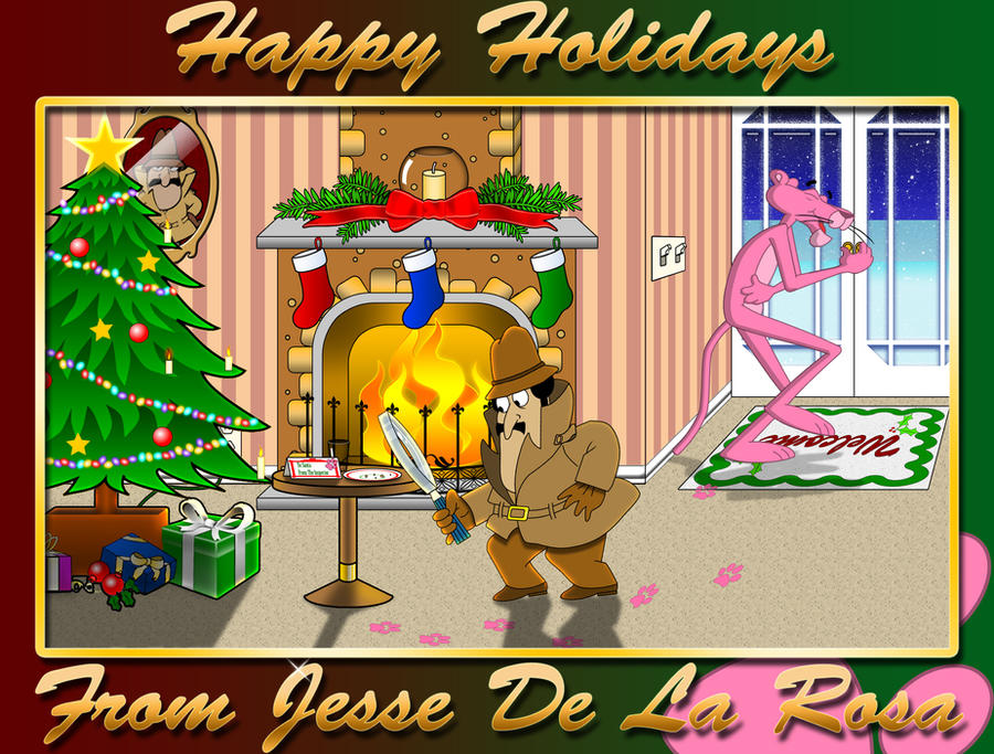 A Pink Panther Christmas by EspionageDB7 on DeviantArt