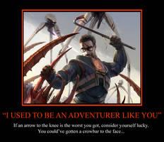 Arrow to the Knee Motivational by EspionageDB7
