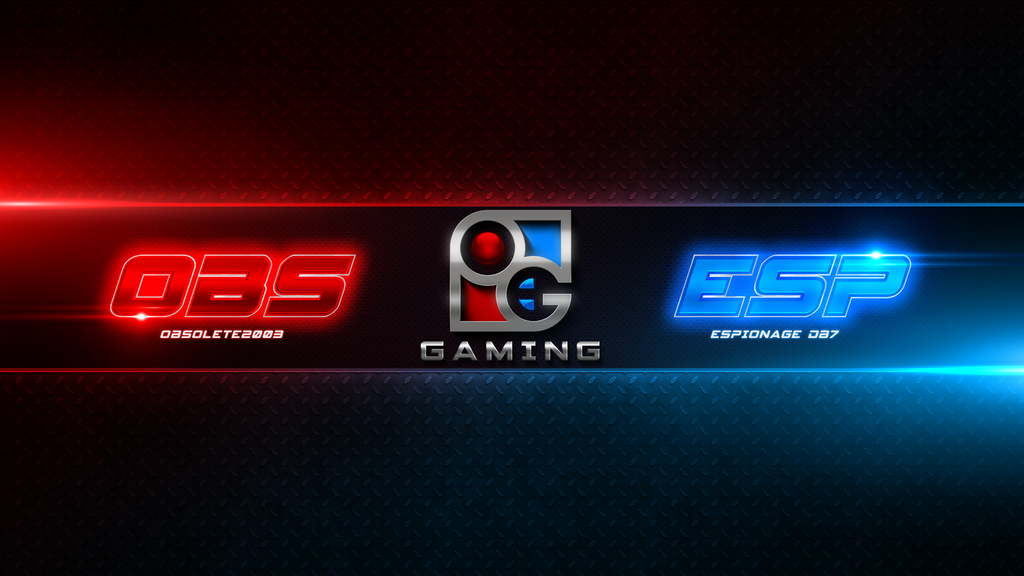 Obs and Esp Gaming - Youtube Banner by EspionageDB7