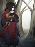 Madara with red kite by FireEagleSpirit