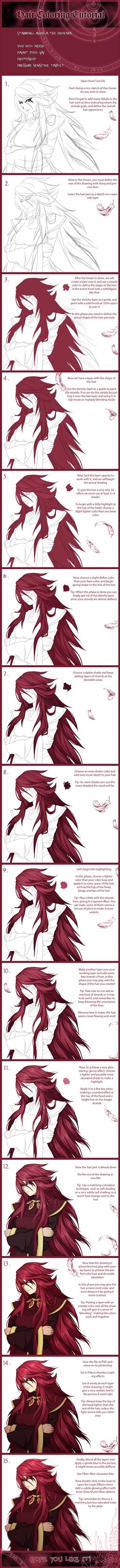 Hair coloring Tutorial by FireEagleSpirit