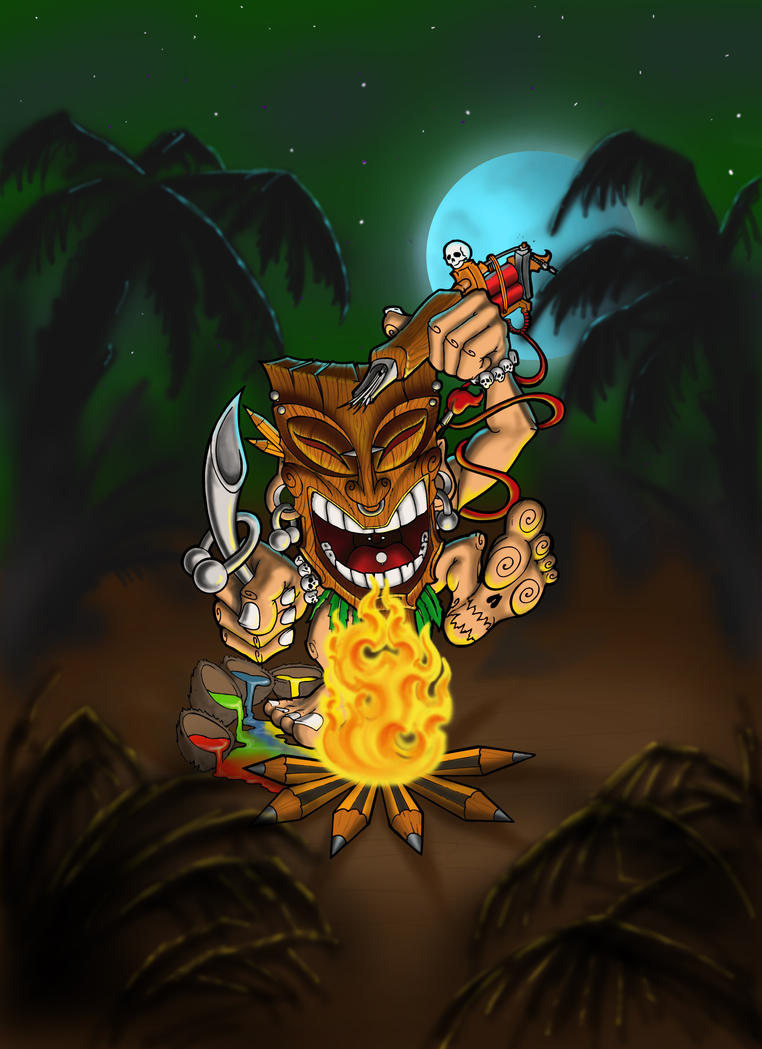 The Dancing Tiki By St Noone
