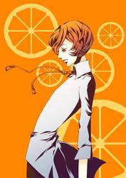 orange poler tie