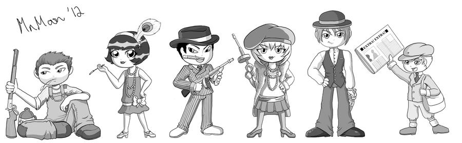 Character Design Book Jazza : Game design s character drawings by melonie moon