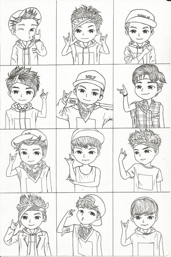 exo fanbase coloring pages - photo#2