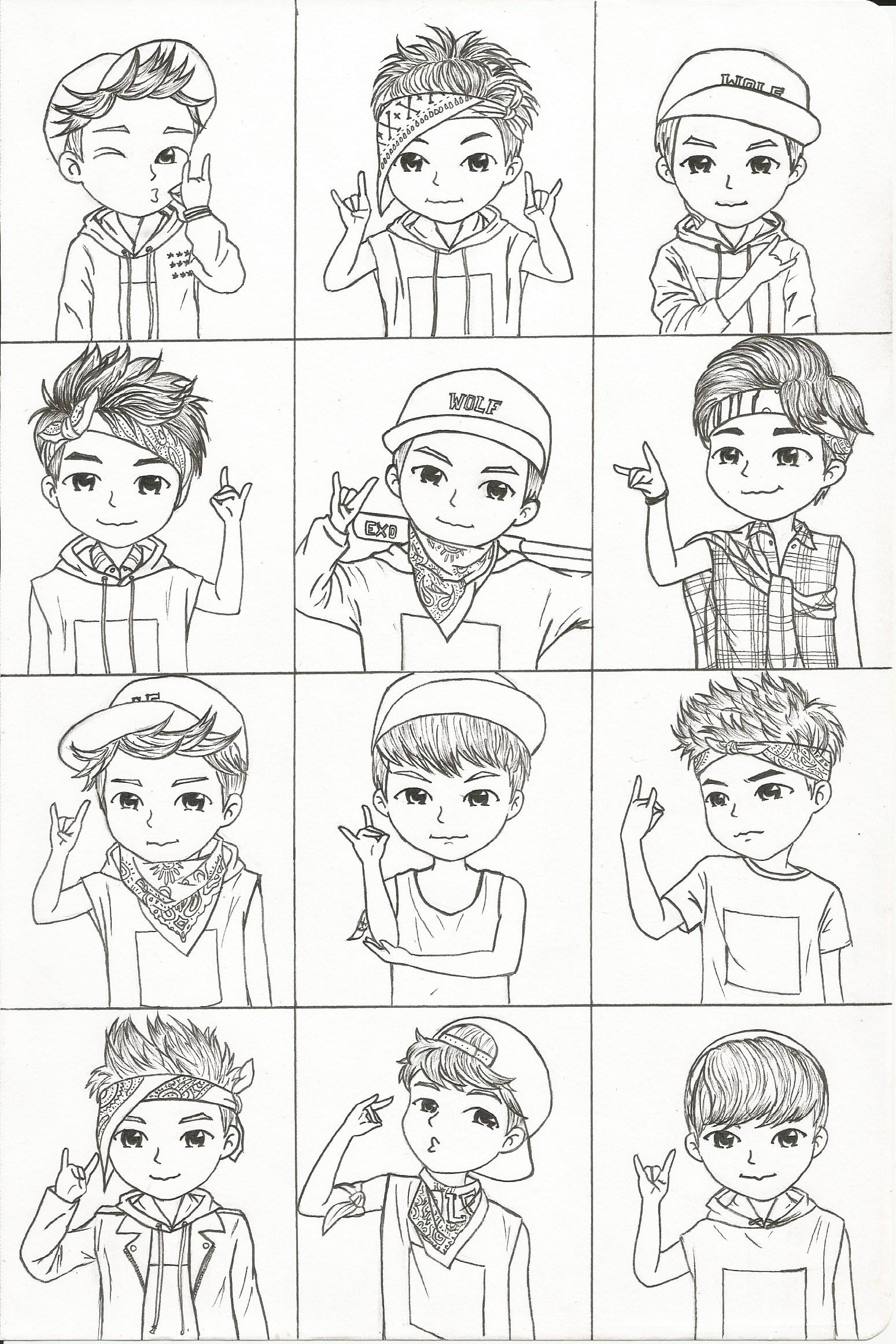 Exo Chibi Wolf Era By Growlingwolf88 On DeviantArt