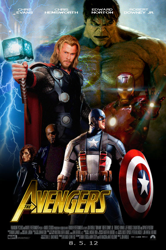 The Avengers movie posters by iNo019 on DeviantArt
