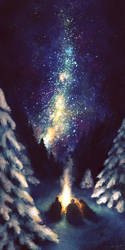 Stars in the Night Sky by NaomiVanDoren