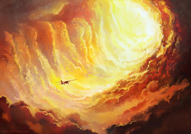 Flying Home by NaomiVanDoren