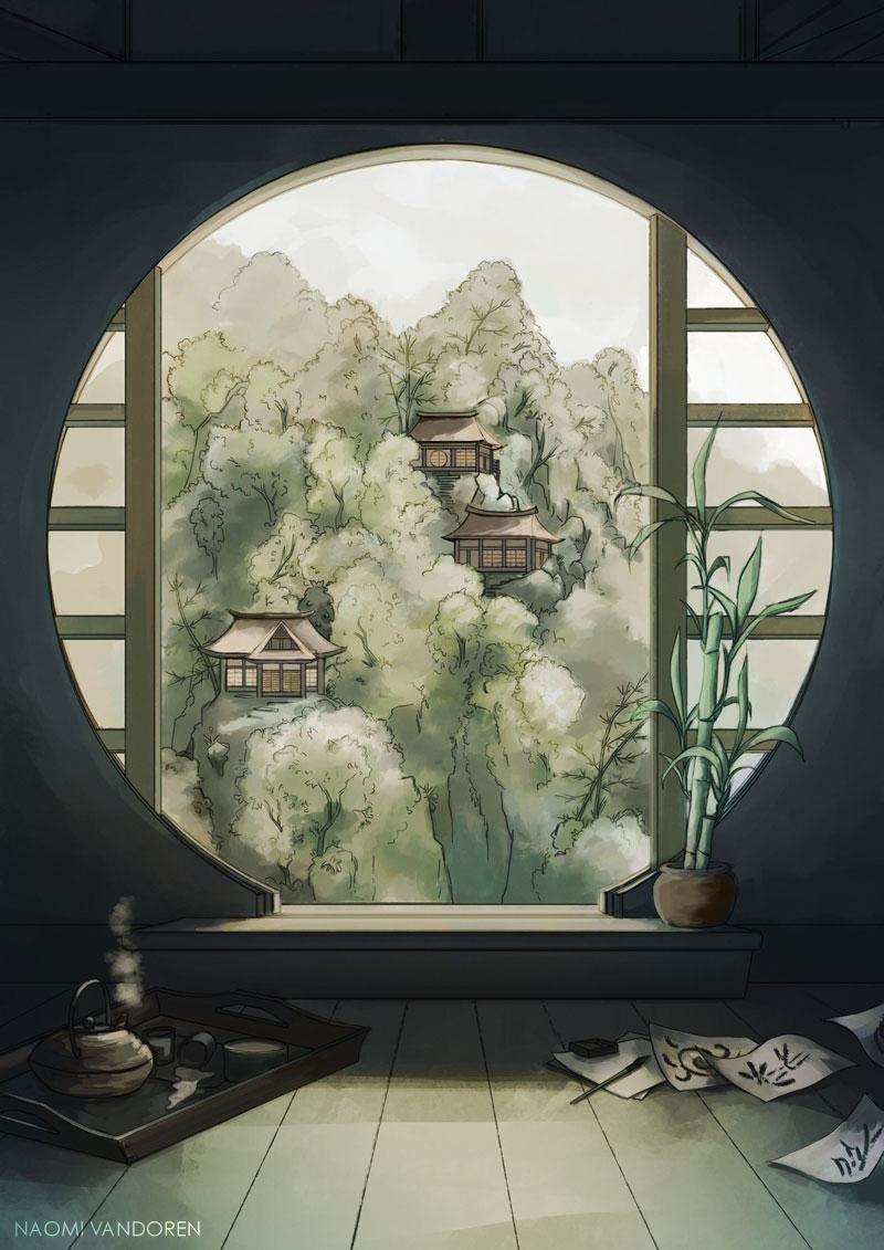Bamboo and Tea by NaomiVanDoren