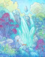 Crossing the Falls by NaomiVanDoren