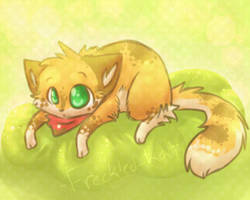 -green fluffyness- by Freckled-Kat
