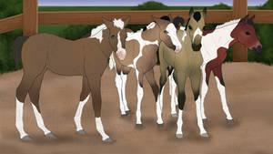New Foalies by LunarRocketStables