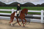 Autumn's dressage at Seua The Trolls' Show by LunarRocketStables