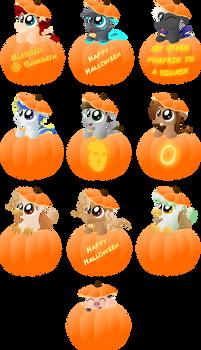 Halloween - Pumpkin Ponies (and a pig)