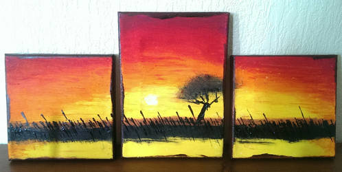 Sunset - Mini Canvas