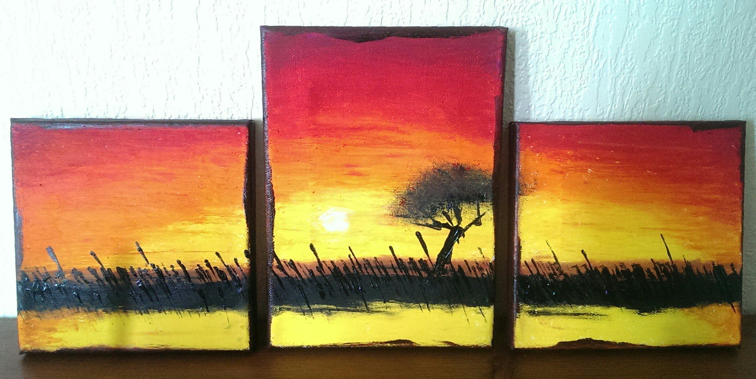Sunset - Mini Canvas