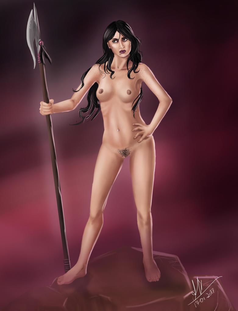 Umbrariel Standing (Undressed) by Razielbra