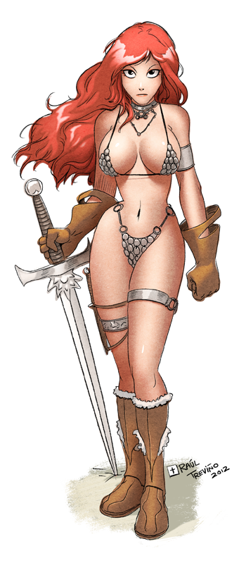 Red Sonja Fanart by raultrevino