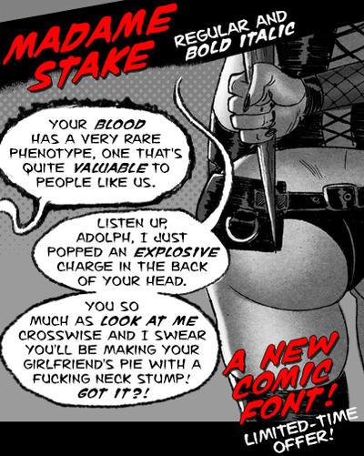 Madame stake Font