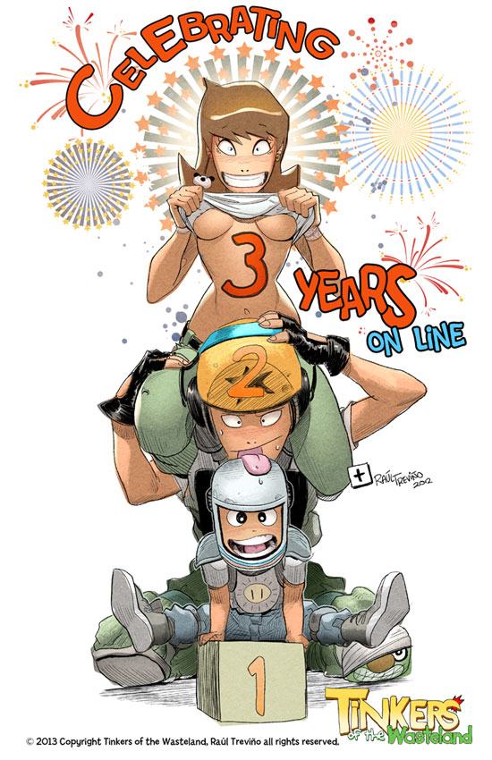 Three years online by raultrevino