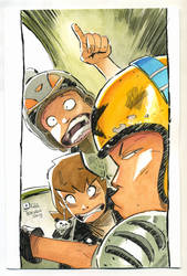 Watercolors. A panel from my comic by raultrevino
