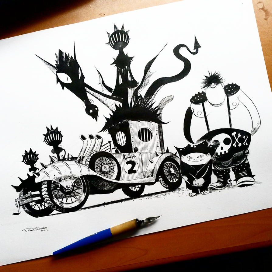 Creepy Coupe Wacky Races by raultrevino