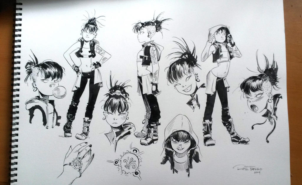 Character Design Model Sheet by raultrevino