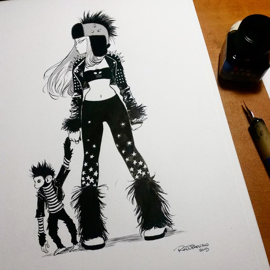 INK and Punky Cover Drawing by raultrevino