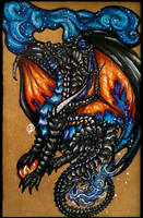 ~ Saphirus of the Starlit Fire ~ by SaphireDragon16