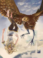 Dawn (Glorfindel and Thorondor) by Mellaril