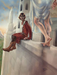 The Boy on the Wall (Maeglin and Idril) by Mellaril