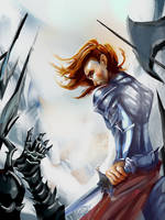 Fire on the Snow (Maedhros Defends Himring) by Mellaril