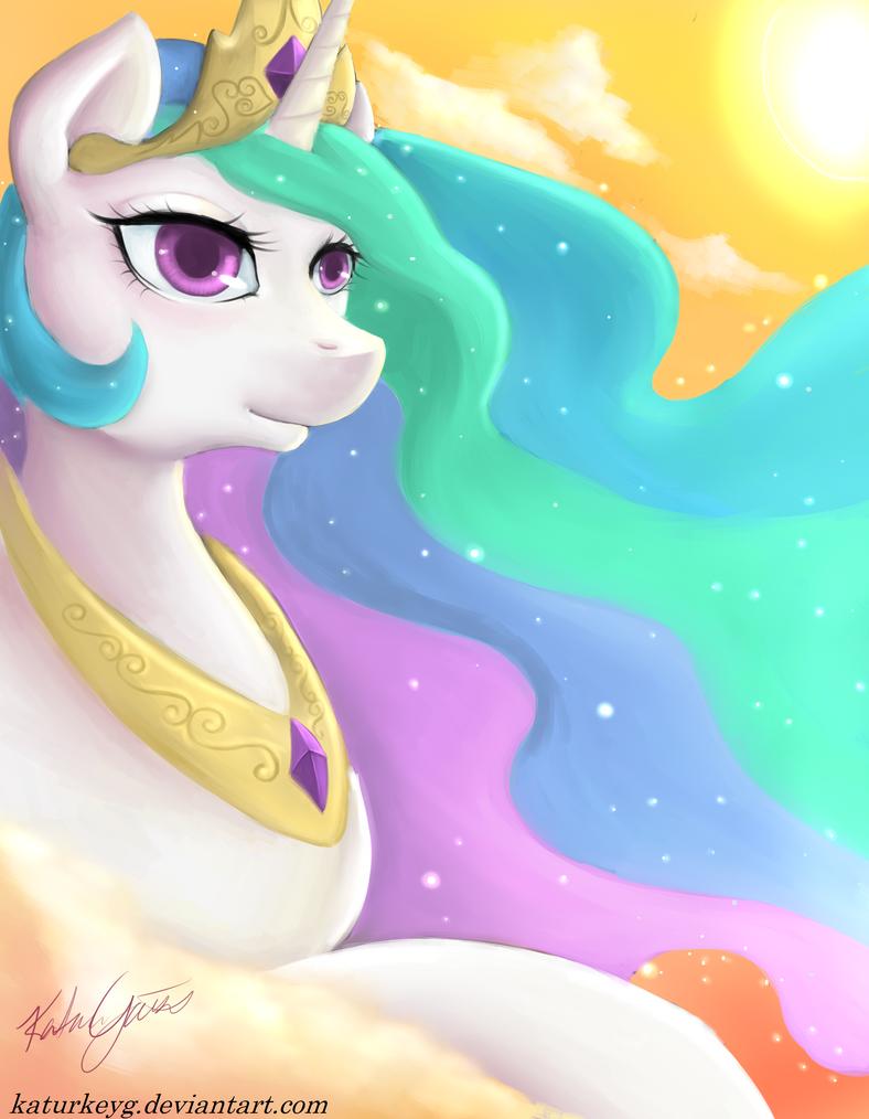 Celestia: Tyrant...erm...Princess of the Sun by katurkeyg