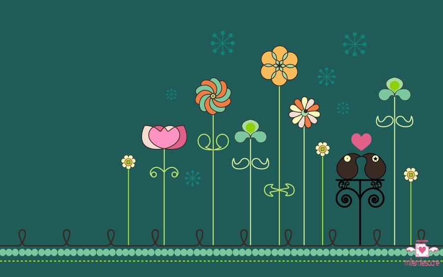 Spring garden wallpaper by mllemlesucre