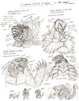 Gamera Sketch Study by RenDragonClaw