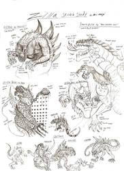 Zilla Sketch Study by RenDragonClaw