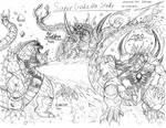 Super Godzilla Sketch Study