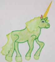 Green Unicorn by SapphireWarrior