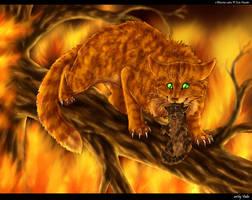 Fireheart and Bramblekit by Vialir