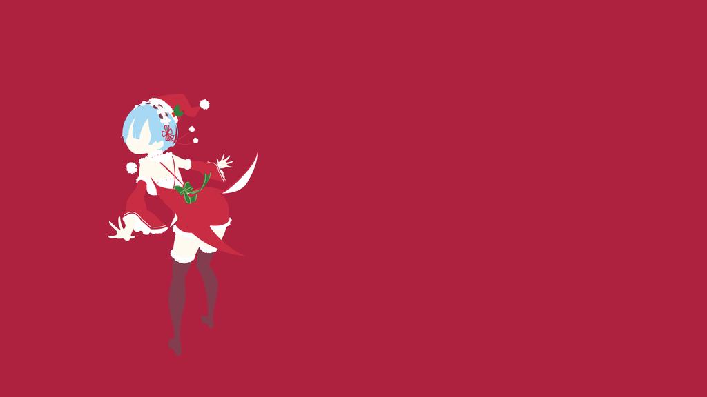 Santa rem re zero minimalistic wallpaper by ancors on for Re zero wallpaper