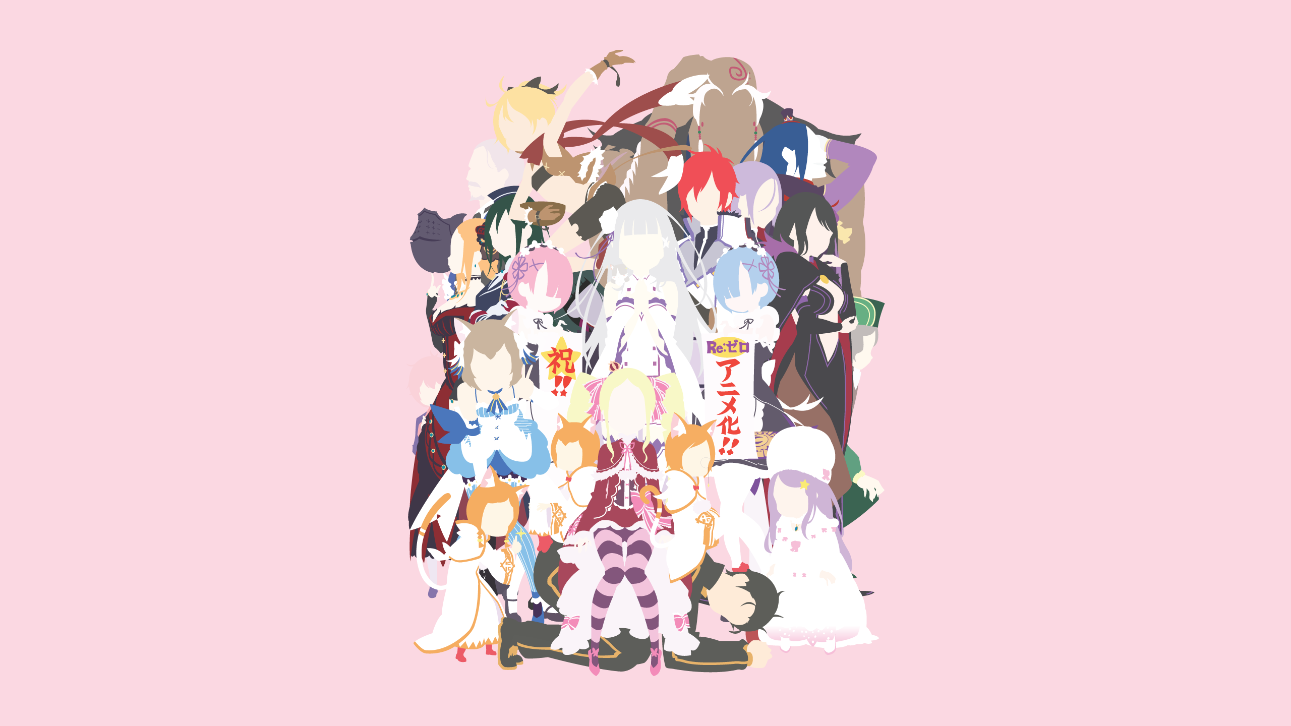 Character wallpaper re zero minimalistic by ancors on for Re zero wallpaper