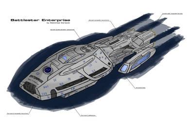 Battlestar Enterprise by IcarusTyler