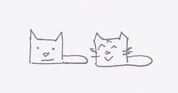 Minimalist cubic Kittens by IcarusTyler