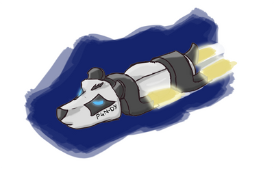 Panda Starship by IcarusTyler