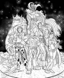 Buzz Lightyear and co BW final